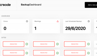 The CSMT Dashboard overview screen with client names redacted